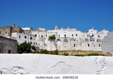 Ostuni Panorama of the Old Town (the White City), Puglia, Italy