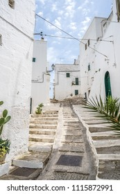 Ostuni, the white city, beautiful medieval village in south Italy