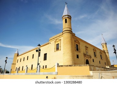Osuna, Spain - Apr 16, 2014: Ancient University built at 1548 in Osuna, famous town in the province of Sevilla, Andalusia, Spain