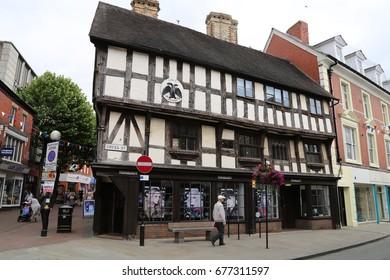 Oswestry, England, UK. 7 July 2017. Toni & Guy hairdressers shop at Llwyd Mansion