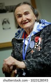 OSWIECIM, POLAND - JANUARY 27, 2018,73 Th Anniversary of the Liberation of Auschwitz-Birkenau