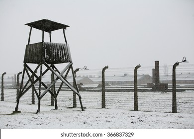 OSWIECIM, POLAND - JANUARY 27: Auschwitz Birkenau a former Nazi extermination camp in Brzezinka, Poland near Oswiecim on January 27 2011 in Oswiecim, Poland.