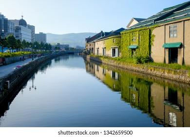 Otaru canal in Otaru, Hokkaido of Japan. It a historic canal in Otaru city where is a popular tourist destination is early in the summer.