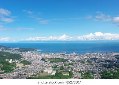 Otaru city view,Hokkaido Japan
