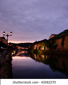 Otaru river and night scene