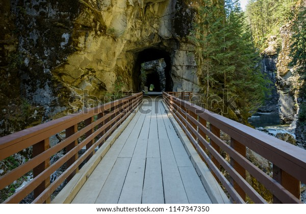 Othello Tunnels: a series of tunnels were built in Coquihalla Canyon at Hope British Columbia to construct railway route to link Kootenay region of British Columbia Canada.