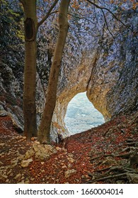 Otlisko okno, rock formation above Vipava valley - Shutterstock ID 1660004014