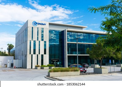 Otonomy headquarters. Otonomy is a biopharmaceutical company dedicated to edevelopment of innovative therapeutics for diseases and disorders of the ear- San Diego, California, USA - 2020
