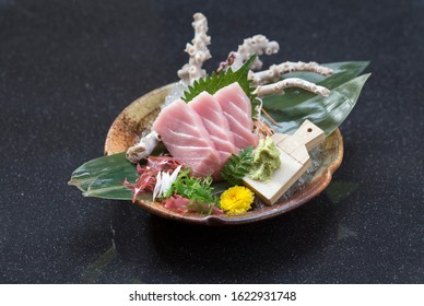 Otoro sashimi Japanese food cuisine isolated