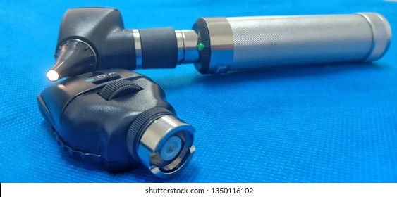 Otoscope for doctor use to exam the ears, Medical equipment for physical examination