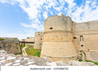 Otranto, Apulia, Italy - A historical defense tower as part of the city wall of Otranto in Italy