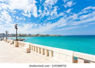 Otranto, Apulia, Italy - Lookout from the promenade of Otranto in Italy