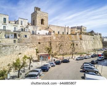 Otranto with historic Alfonsina Gate in the city center, Apulia, Italy