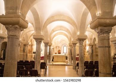 OTRANTO, ITALY, FEB 6, 2016: Crypt of the Otranto Cathedral, Salento, South Italy