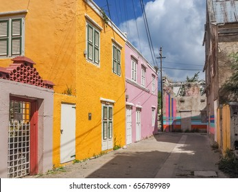 Otrobanda Town with lots of street art - Curacao a small island in the Caribbean