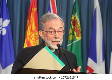 OTTAWA - APRIL 18, 2018: Bishop Lionel Gendron is president of the Canadian Conference of Catholic Bishops.
