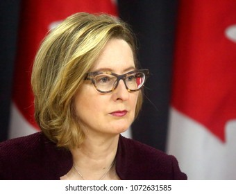 OTTAWA - APRIL 18, 2018: Carolyn Wilkins is Senior Deputy Governor of the Bank of Canada.