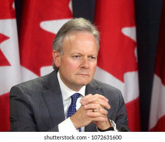 OTTAWA - APRIL 18, 2018: Stephen Poloz is Governor of the Bank of Canada.