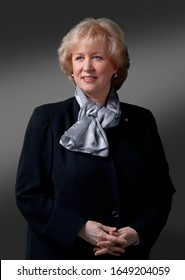 OTTAWA, CANADA - February 10, 2009: Former Canadian Prime Minister Kim Cambell poses for portraits before taking on her role on the Canadian reality TV Show 'Canada's Next Great Prime Minister'