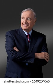 OTTAWA, CANADA - February 10, 2009: Former Canadian Prime Minister Paul Martin  poses for a portrait before taking on his role on the Canadian reality TV Show 'Canada's Next Great Prime Minister'