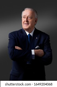 OTTAWA, CANADA - February 10, 2009: Former Canadian Prime Minister Brian Mulroney  poses for portraits before taking on his role on the Canadian reality TV Show 'Canada's Next Great Prime Minister'
