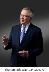 OTTAWA, CANADA - February 10, 2009: Former Canadian Prime Minister Joe Clark poses for portraits before taking on his role on the Canadian reality TV Show 'Canada's Next Great Prime Minister'