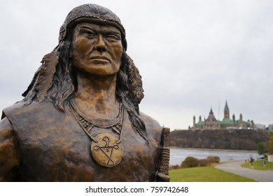 OTTAWA, CANADA - 17 NOVEMBER 2017. Newly unveiledChief Tessouat