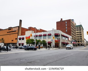 OTTAWA, CANADA -8 MAR 2018- View of comercial buildings in downtown Ottawa, the capital of Canada.