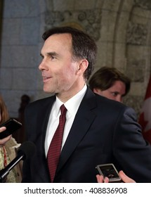"OTTAWA, CANADA APRIL 19, 2016: William ""Bill"" Morneau is finance minister in the Liberal government of Prime Minister Justin Trudeau."