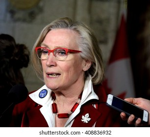 OTTAWA, CANADA APRIL 19, 2016: Carolyn Bennett is Minister of Indigenous and Northern Affairs in the Liberal government of Prime Minister Justin Trudeau.