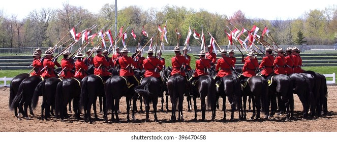 OTTAWA, CANADA  ?? APRIL 28, 2010: Members of the Royal Canadian Mounted Police perform the world-famous musical ride.