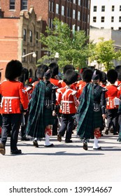 OTTAWA, CANADA - AUGUST 8: members of the Canadian Grenadier Guards on parade on August 8, 2008 in Ottawa, Canada.