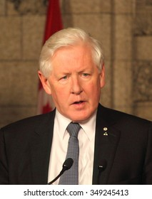"""OTTAWA, CANADA - DECEMBER 12,2012: Former premier of Ontario and member of Canada's Parliament, Robert """"Bob"""" Rae, retired from politics in 2013."""