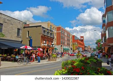OTTAWA, CANADA - JULY 1, 2009: Byward Market in downtown Ottawa, Ontario, Canada.