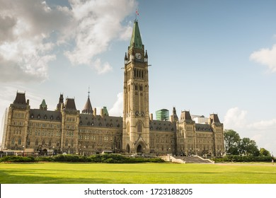 OTTAWA, CANADA - JULY 10, 2015:The Parliament of Canada is the federal legislature of Canada, seated at Parliament Hill in Ottawa.