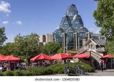 Ottawa, Canada - June 28, 2018: National Gallery of Art Centre Building in Ottawa.