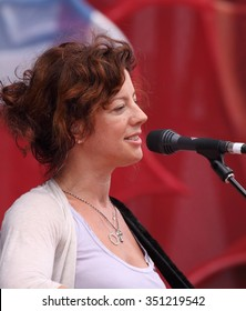 OTTAWA, CANADA - JUNE 30, 2009: Popular Canadian singer, songwriter Sarah McLachlan has raised millions of dollars for a variety of charities.