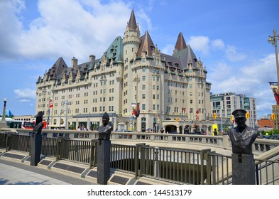 OTTAWA, CANADA - JUNE 30: Chateau Laurier Hotel on june 30, 2013 in Ottawa, Canada. This castle like hotel is named for Sir Wilfred Laurier, the former Prime Minister of Canada.