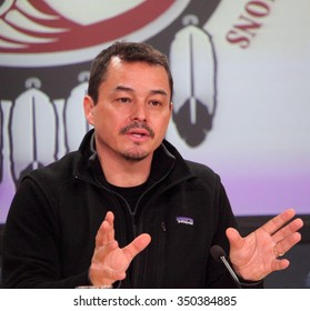 OTTAWA, CANADA - JUNE 9, 2013: Shawn Atleo, National Chief of the Assembly of First Nations in Canada, resigns May 2 2014.