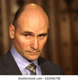 OTTAWA, CANADA - MARCH 07, 2017: Jean-Yves Duclos is Minister of Families, Children and Social Development in the Liberal government of Prime Minister Justin Trudeau.
