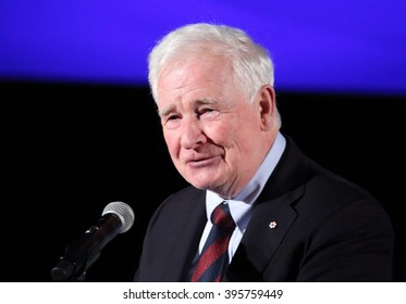 OTTAWA, CANADA  MARCH 22, 2016: David Johnston is the 28th Governor General of Canada.