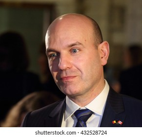 OTTAWA, CANADA - MARCH 22, 2016: Nathan Cullen is the New Democratic Party Member of Parliament for the riding of Skeena-Bulkley Valley in British Columbia.