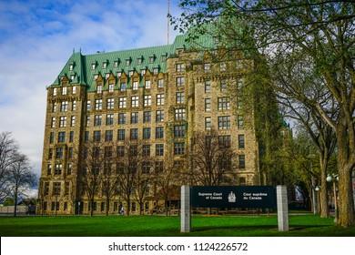 Ottawa, Canada - May 15, 2017. Supreme Court of in Ottawa, Canada. Queen Victoria chose Ottawa as the capital of Canada in 1857.