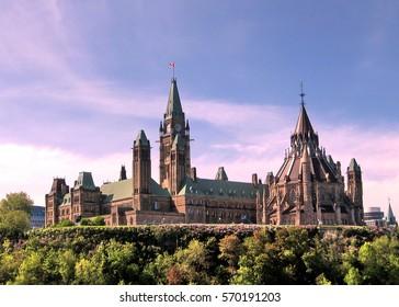 Ottawa, Canada - May 18, 2008: Parliament building.