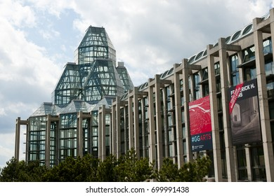 OTTAWA, CANADA - May 26, 2015: National Gallery of Canada is one of Canada's premier art galleries
