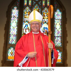 OTTAWA, CANADA - MAY 28, 2016: Bishop Nigel Shaw is bishop ordinary of the Canadian Anglican Military Ordinariate.