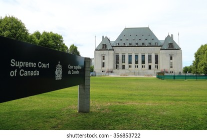 OTTAWA, CANADA - OCTOBER 29, 2015: Since 1949, the Supreme Court of Canada has been the final court of appeal and the highest legal authority in the Canadian justice system.