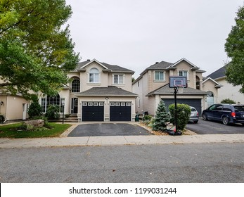 OTTAWA, CANADA - OCTOBER 6, 2018: Suburban house in the Stonebridge area of Ottawa.
