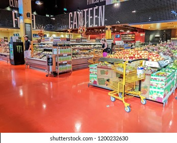 OTTAWA, CANADA - OCTOBER 9, 2018: Interior of Loblaws at Marketplace Ave. Loblaws is a grocery supermarket chain from Ontario with over 2000 stores in Canada.