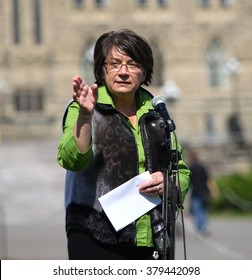 OTTAWA, CANADA - SEPT. 10, 2008: Former Canadian diplomat and Inuit leader Mary Simon at celebration of life on Parliament Hill on World Suicide Prevention Day.